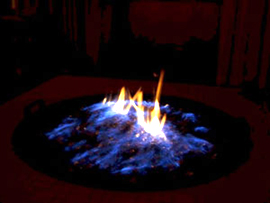 Black Magic Turns Flames Blue