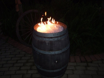 Ivan wine barrel fire pit